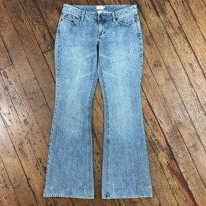 Calvin Klein Distressed Flared Light Wash Jeans